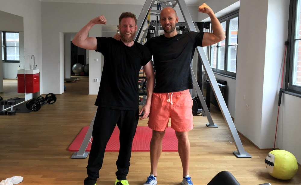 Sebastian Andrej Schweizer Training im Training mit Personal Trainer Andreas Heumann
