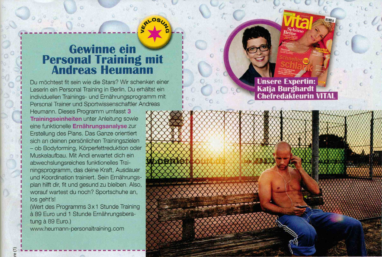 Gewinnspiel: Personal Trainer Andreas Heumann @Topmodel Magazin