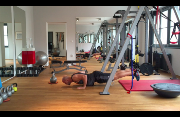 Liegestütze im Personal Training Studio Berlin