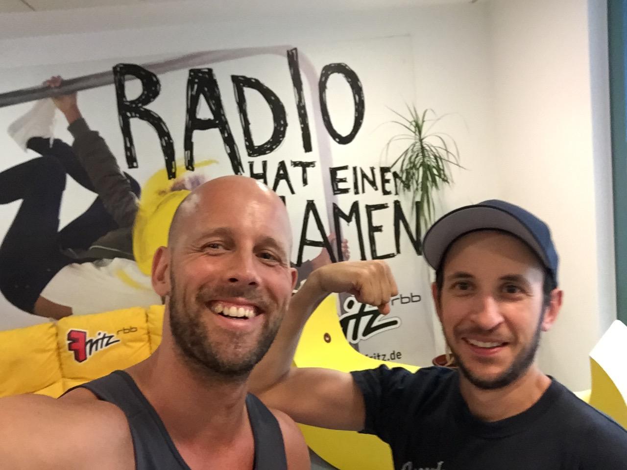 Interview bei den Radiofritzen zum Thema Sport im Urlaub