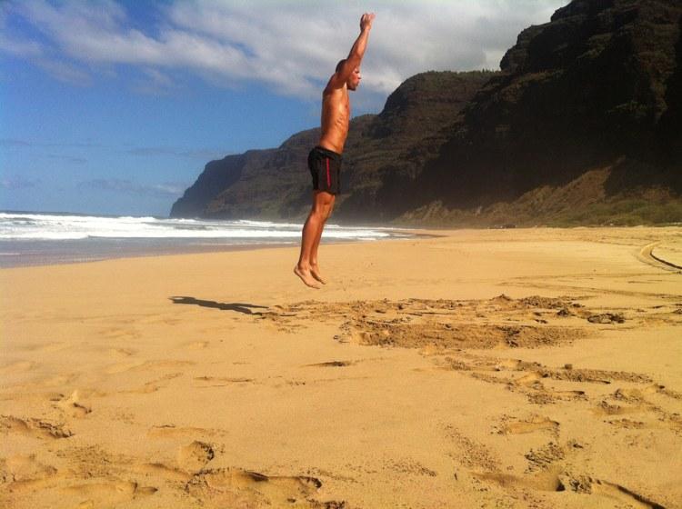 Andreas Heumann Beach Workout Sprungkniebeugen